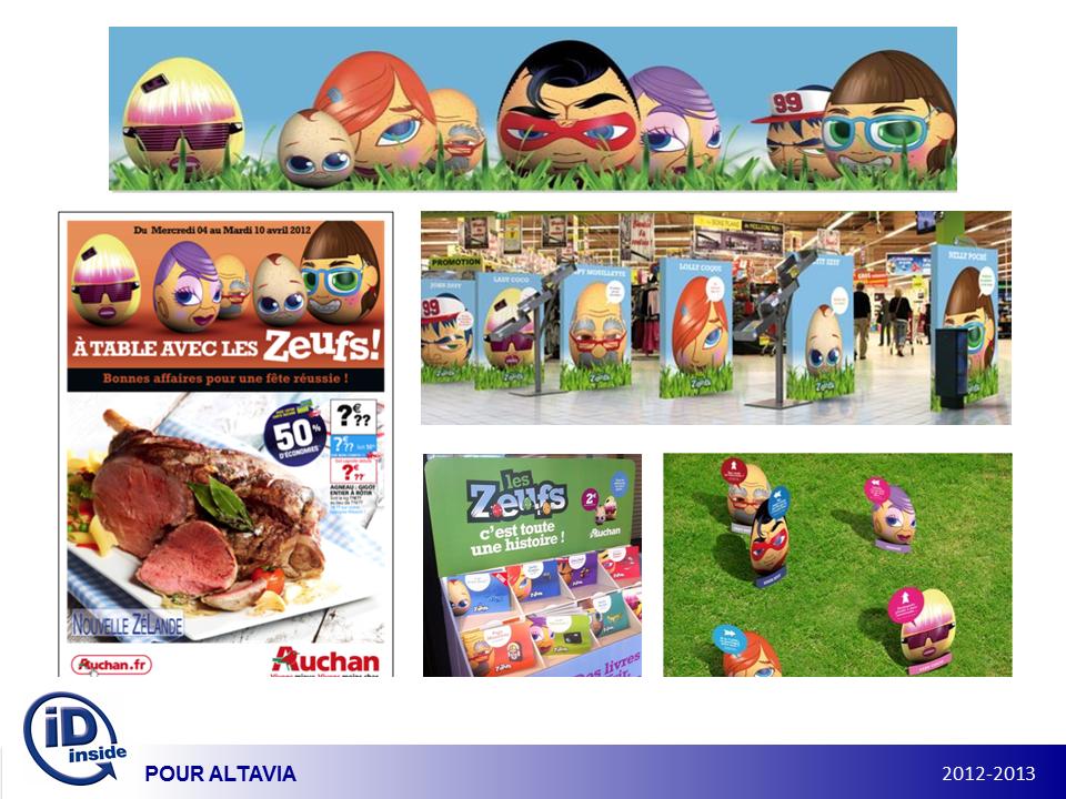 Visuels Campagne Auchan, Les Zeufs de Pâques