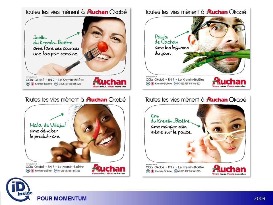 Illustration Campagne d'activation commerciale Auchan, toutes les vies mènent à Okabé, Patrick Lecercle, ID Inside