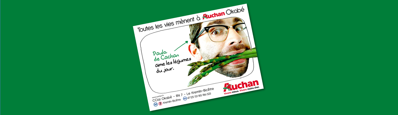 Illustration cas client Auchan, Toutes les Vies mènent à Auchan Okabé, Patrick Lecercle, ID inside