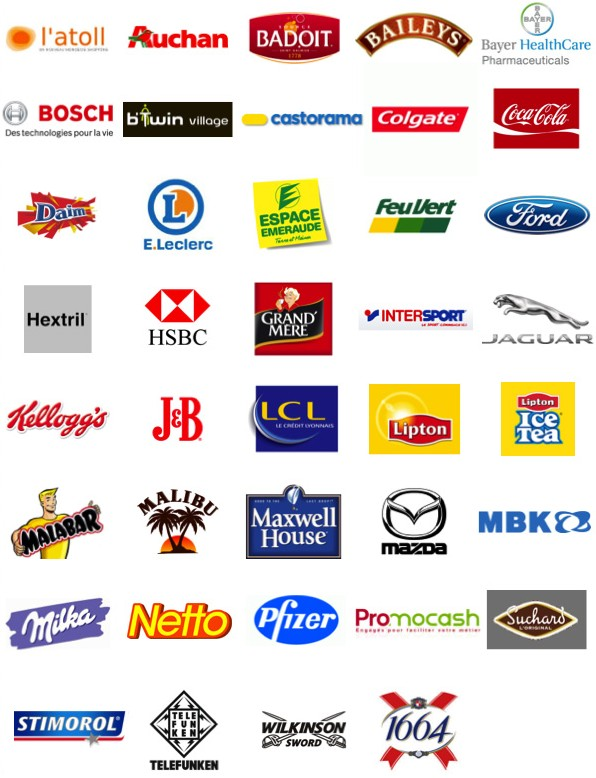Logos références clients Patrick Lecercle, fondateur de ID Inside